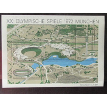 Alemanha Bloco Novo 1972 Olimpiadas Munique Goma