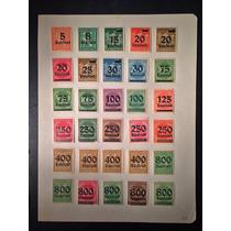 Deutsches Reich Hiperinflação 30 Selos C/ Variações Raras!