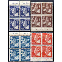 Alemanha D D R 1950. Série Completa Da Paz Em Blocos De 4
