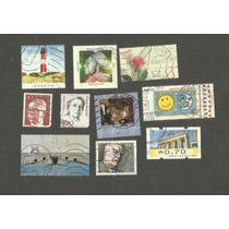 176 - Europa Alemanha - 10 Selos Com Carimbo - Temas