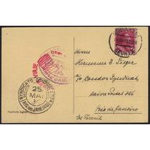 Col 17381 Cartão Postal Espanha/brasil Circulado Zeppelin
