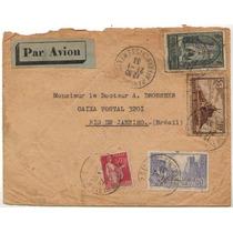 Col 07724 França Envelope Circulada P/o Brasil - Rj