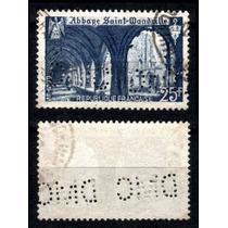 França 1949 * Abadia St. Wandrille * Perfins D W C .raridade