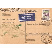 Zeppelin-postal Da Hungria Circulado A Alemanha-carimbo-1931