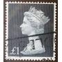 7899 Inglaterra Rainha 1 Libra Selo Yvert Nº 490 Circ