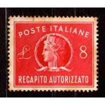 Itália 1945 * Efígie * Selo Autorizado .de Entrega 1 L