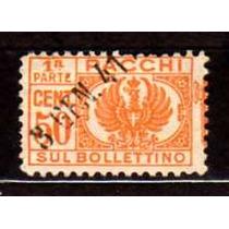 Itália 1927 * Selo .de Taxa .p/ Encomendas 50c .laranja