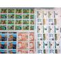@brasil 14 Folhas Selos Comemorativos Novos . Algumas Series