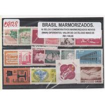 @4128 Brasil 16 Selos Marmorizados Novos Vr. Cat 1.100,00