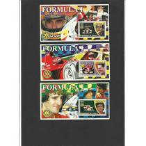 L634-fórmula 1-coleção 6 Blocos Difer.-lindos Selos Senna