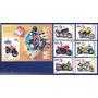 Cuba - Bloco E 6 Selos Ano 2009 Tema Transportes Motos