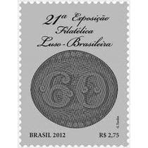 Brasil Par De Selos 21°exp. Fil. Luso-brasileira 2012 Novo.