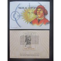 Todos Os Blocos De 1973 - 2 Blocos Mint R$ 120, De Catalogo
