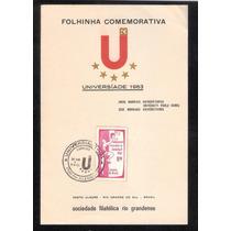 Universiade 1963- Folhinha Comemorativa-porto Alegre 1963