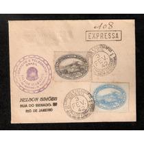Palacio Itamarati- Envelope Com Rhm C-113/14 - Carimbos