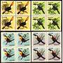 Brasil C 1321/24 Pássaros Tucanos Quadras 1983 Nnn