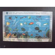 Folha Da Série Oceanos Completa 24 Selos - Fauna Marinha