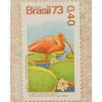 Filatelia Selo Filatélico Ave Guará 40 Centavos 1973 Coleção