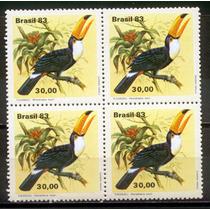 Quadra Nova Do Selo C-1321 - Fauna Brasileira Tucanos - 1983