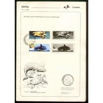 Edital 7 De 1987 Com Selos - Preservação Da Fauna Brasileira