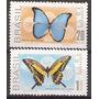 695-696 Promoção Da Fauna Brasileira - Borboletas- Mint