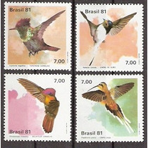Série Fauna Brasileiras Beija-flores -mint -81- C-1197-1200