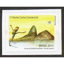 (1027) Selos Brasil Esportes Arte Do Futebol 2014 Sedes