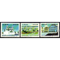 Brasil C 1585/87 Exposição Filatélica Porto 1988 Nnn