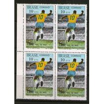 Brasil 1969 Milésimo Gol Pelé Quadra C-658 Mint (0725)