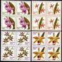 Brasil C 1162/65 Orquídeas Flora Quadras Lc Nnn