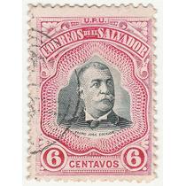 Selo Antigo El Salvador 6 Centavos - Pedro Jose Escalon - Ab
