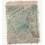 Selo Antigo - Brasil - Correio - 1908 - 50 Réis - Ab