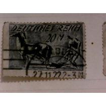 Selo Alemanha Deutsches Reich Plowman 1921