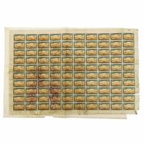 Filatelia: Rara Folha Completa Com 100 Selos, Emissão 1945