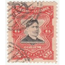 Selo Antigo El Salvador 6 Centavos Gen Fernado Figueroa- Ab