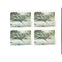 Linda Quadra Selo Rhm C-1693 - Avião Cba-123 - Vejam A Foto