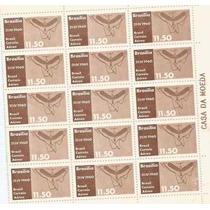 116 - Parte De Folha Selos Postais Brasil 1960 - Rhm A96
