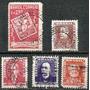 068 Sls- Brasil- 5 Selo Postal Antigo Carimbado 1954 - 1957
