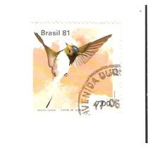 Lindo Selo Rhm C-1198 - Fauna Brasileira - Vejam A Foto !!!