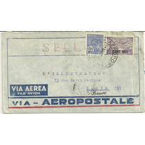 Envelope Aéreo Aeropostale 1931 Brasil Para Paris - Rhm A38