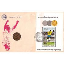 Pelé-1000º Gol-raro-fdc Do Bloco-carimbo 1°dia-23-01-1970