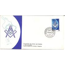 Maçonaria-1977 Fdc Oficial Com Selo 50 Anos Lj Brasil.1º Dia