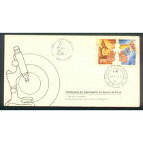 Fdc 247+cbc - 100 Anos Descoberta Do Bacilo De Koch - 1982