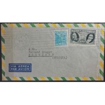 Brasil 1941 Envelope Circulado Padrão Réis E Cruzeiro Juntos