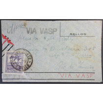 Brasil 1941 Envelope Aéreo Via Vasp Franquia Isolada Comem.