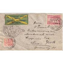 Graf Zeppelin-carta Rio-recife New York-2 Carimbos