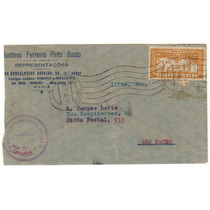 17308 Carta Circulada Via Condor Ba Sp Franquia Isolada 1934