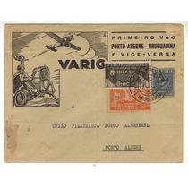 17356 Envelope Circulado Via Varig Porto Alegre Uruguaiana