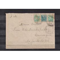 Brasil - Envelope Com Porte Selos Misto:réis E Cruzeiro 1950