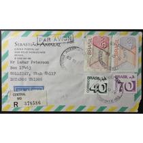 Brasil 1976 - Envelope Circulado Regulares 544-551-554-555